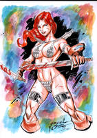 Red Sonja Color Savage by JardelCruz