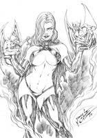 Goblin Queen 88 by JardelCruz