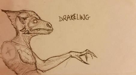 Drakeling sketch by Zabojcerz