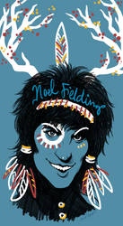 Noel Fielding: Blue Diamonds by drunkenchorusgirls