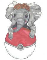 Poke Sized Elephant by sunlitlake