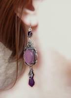 Purple Crystal Earrings1 by Aranwen
