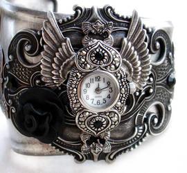 Steampunk - Gothic Cuff Watch by Aranwen