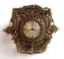 Steampunk Watch Cuff - Floral3 by Aranwen