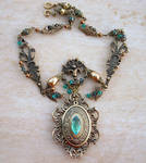 Emerald Dragon Golden Amulet 1 by Aranwen