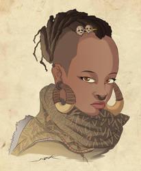 badass black girl by NOOR-SALEH