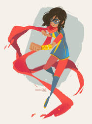 Ms Marvel - Kamala Khan by hyamei