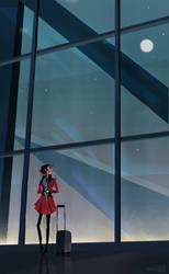 Evening Flight by hyamei