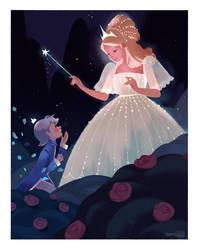 Little Blue Rose by hyamei
