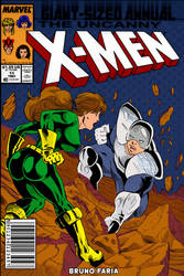 X-men cover Kitty Pryde Vs Avalanche by BrunoFariaINK