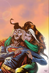 Rogue takes Superman by BrunoFariaINK