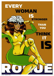 Rogue: Womans Day by BrunoFariaINK