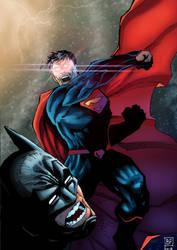 Superman vs Batman by BrunoFariaINK