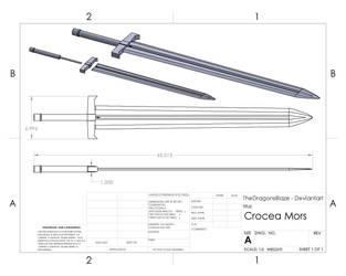 Crocea Mors (RWBY CAD) by TheDragonsBlaze
