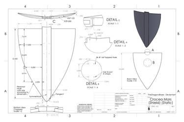 Crocea Mors Shield (RWBY CAD) (Static) by TheDragonsBlaze