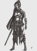 Female swordman by TheCrimsomniac