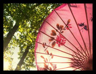 Pink Parasols by JupiterLily