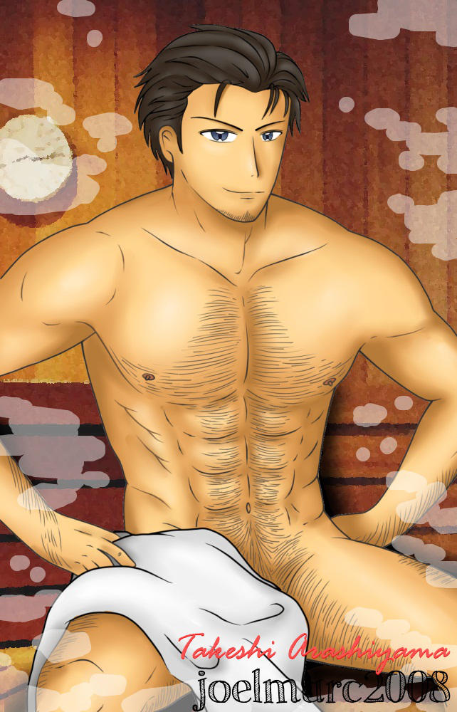 [FA] Takeshi Arashiyama in the Sauna by joelmarc2008