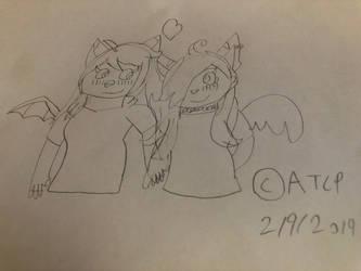 Valentines Day RQ #8: Kitten x Lyra by AngelTheCyborgPanda
