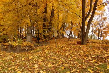 Autumn cemetery by OOOri