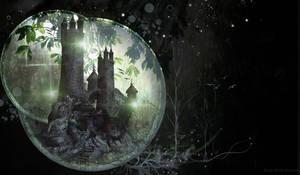 Fantasy Castle PreMade Background by VaLeNtInE-DeViAnT