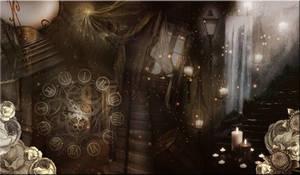 Brown Magical Premade Basckground by VaLeNtInE-DeViAnT