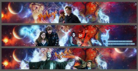 Hogwarts Banners by VaLeNtInE-DeViAnT