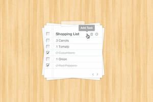 Task List Web App Interface by bestpsdfreebies