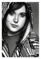 Ellen Page by Tseimar