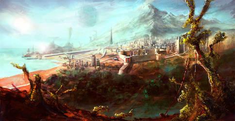 City On The Coast by miridi