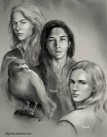 Maedhros, Maglor and Finrod (WIP) by alystraea