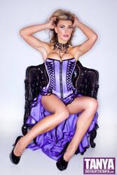 Tanya Tate In Purple Basque by Josh Ryan by TanyaTate