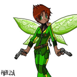 Captain Holly Short by Kunfuzzled