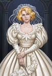 Queenie Goldstein in wedding dress by Domerk