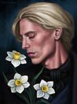 Gellert Grindelwald with daffodils by Domerk