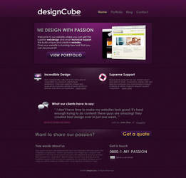 Clean website design by colaja