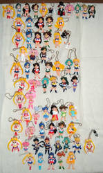 Sailor Moon keychain figures by RakikoHime