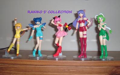Tokyo Mew Mew figures by RakikoHime