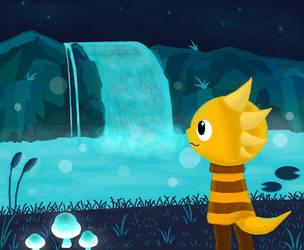 Undertale: Monster Kid in Waterfall by Gianluca850