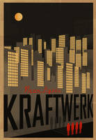 KRAFTWERK Neon Lights Poster by PaulSizer