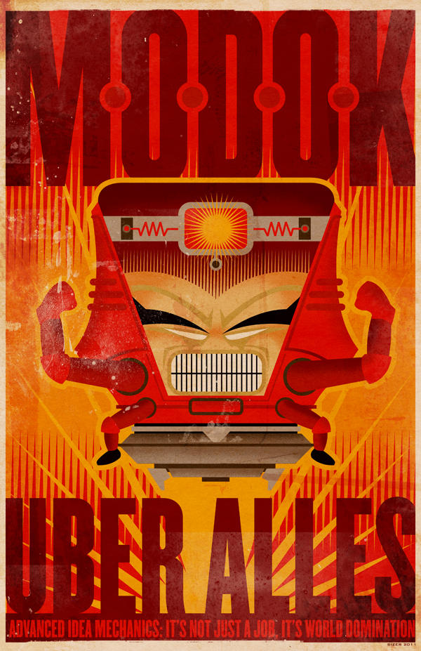 March MODOK Madness Poster by PaulSizer