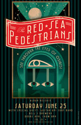 Red Sea Pedestrians CD Release Party poster by PaulSizer