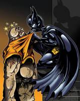Batgirl and thug by PaulSizer
