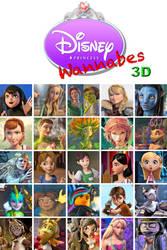 Disney Princess Wannabes, 3-D by SilverBuller