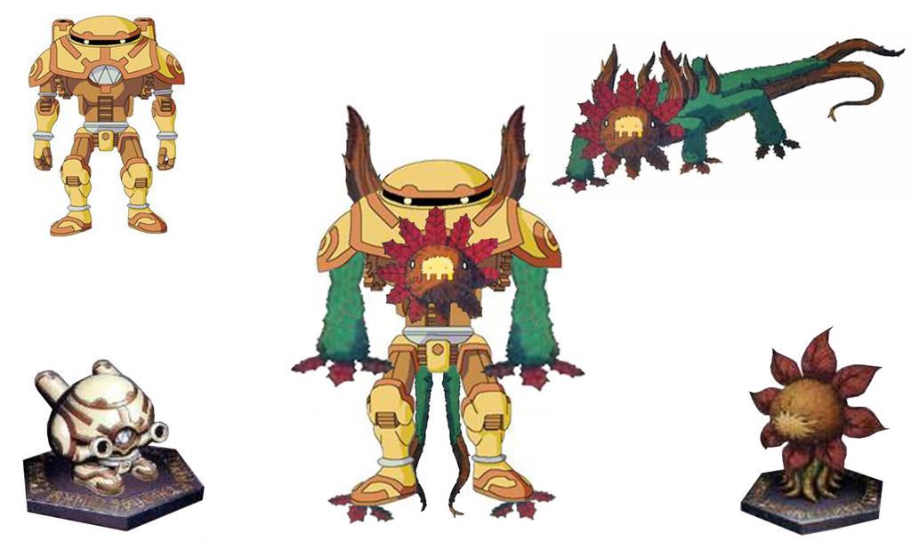 Digimon Frontier Rhinokabuterimon Splintermon - Arbormon...