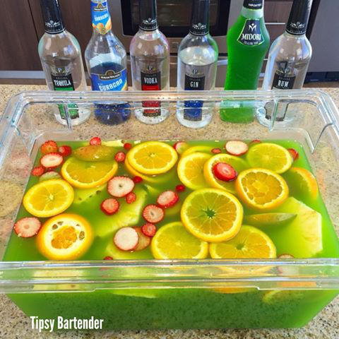 St Patricks Day Jungle Juice By Tipsybartender