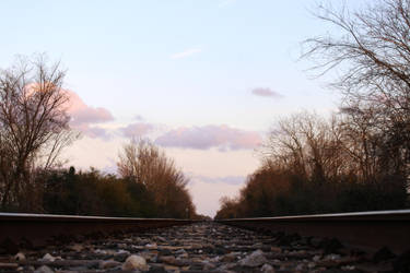 peaceful train tracks by ILikeBoth
