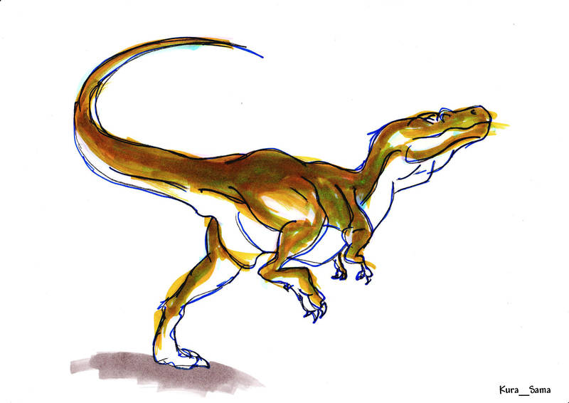 Alectrosaurus by InuKura