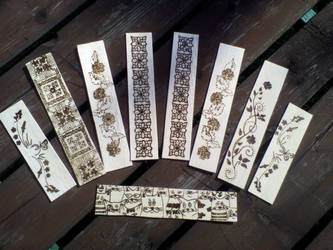 pyrography bookmarks by TamaraFaith
