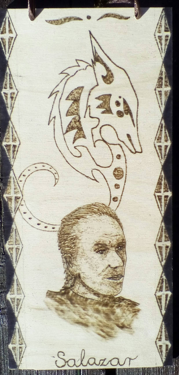 Character from my novel with pyrograph- Salazar by TamaraFaith